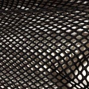 Torrid black fishnet over white T-shirt dress
